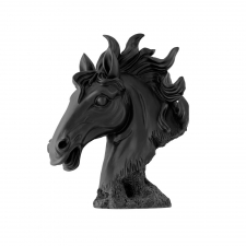 Ceramic Horse Head, Black
