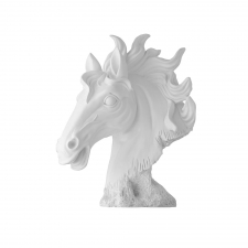 Ceramic Horse Head, White