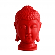 Buddha Head, Shiny Red