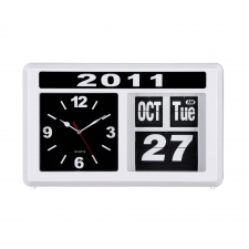 Retro Flip Clock, White