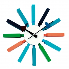 Leese Wall Clock, Multicolor