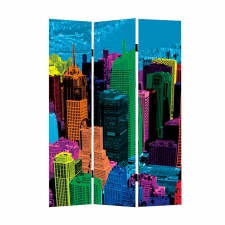 Cityscape Folding Screen