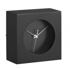 Porthole Table Clock, Black