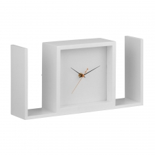 Larkin Table Clock, White