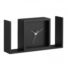 Larkin Table Clock, Black