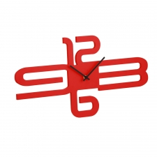 Astaire Wall Clock, Red