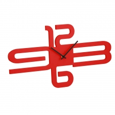 Bennett Wall Clock, Red