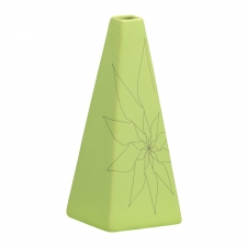 S/2 Triangle Vase, Green