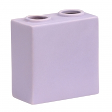 S/2 Bloque Vase, Purple