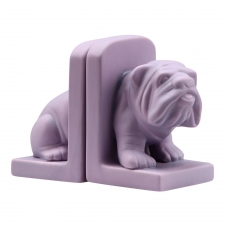 Bulldog Bookends, Purple