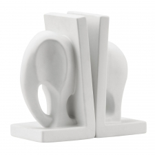 Elefante Bookends, White