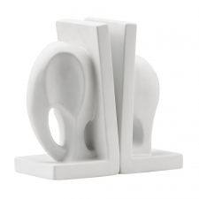 Safari Bookend, White