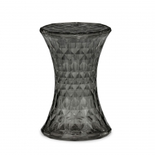 Transparent Ellis Stool, Dark Grey
