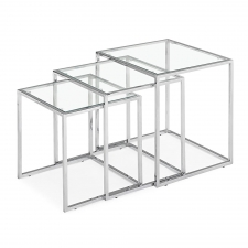 Kinnon Nesting Table, Glass