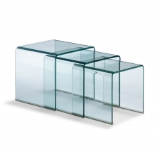Dupont Nesting Tables, Clear