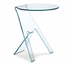 Mendell Side Table, Glass