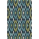 Ikat Outdoor Rug, Ocean