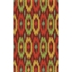 Ikat Outdoor Rug, Poppy