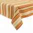 Getaway Stripe Tablecloth, Apricot made by Tabletop Decor.